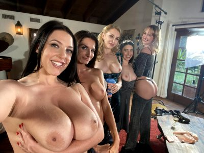 8 Titties And 1 Ass On Set :)