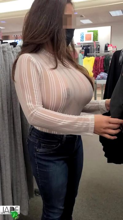 Busty Asian Knows How To Makes Guys Enjoy Shopping