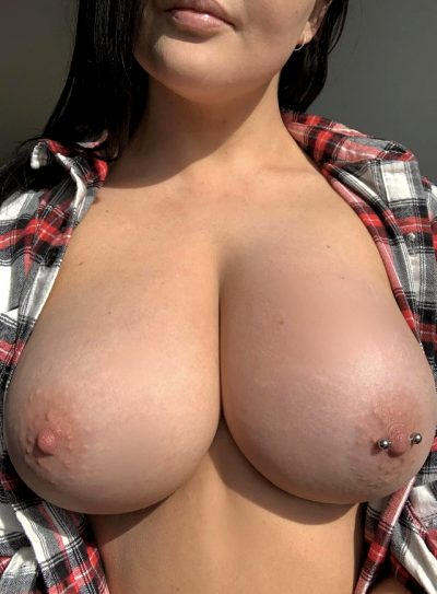 Can I Bounce On Your Cock While You Grab My Big Tits???