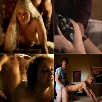 For Those Who Love Pounding It From Behind In Both Holes: Emilia Clarke, Emily Blunt, Esme Bianco And Riki Lindhome