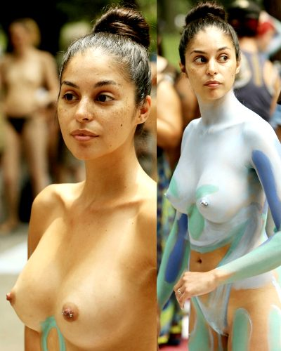 NYC Bodypainting Day Beauty Before/ After