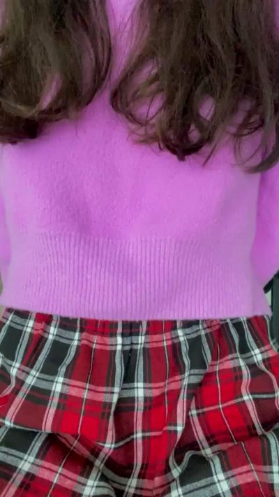 POV: I Let You Peak Under My Skirt During Class
