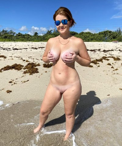 Redhead Mom At The Beach! Would You Fuck Me In Public?
