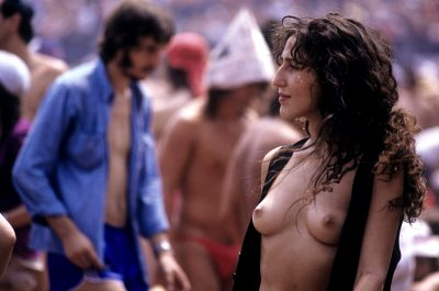 Woman At A Rolling Stones Concert – Turin, Italy – July 1982