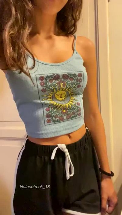 Would You Let A Cute Little Teen Bounce On Your Cock?