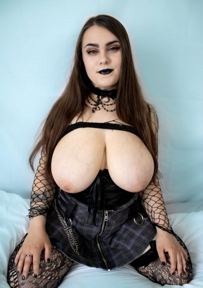 Would You Stick Your Dick Between My Big Goth Titties?